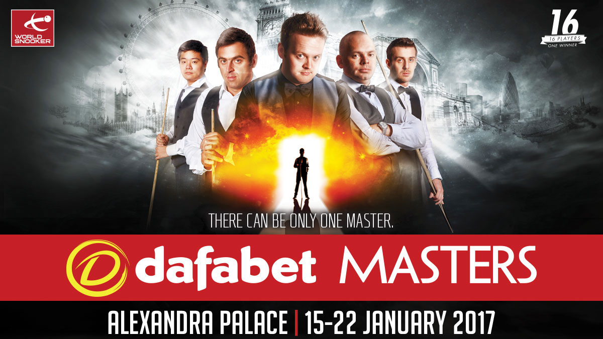 Dafabet Masters 2016 artwork, designed by Alias for World Snooker