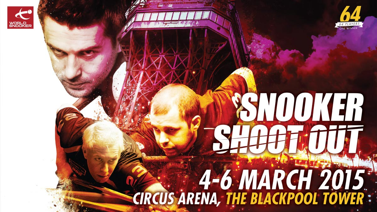 Snooker Shoot-Out 2015 artwork, designed by Alias for World Snooker