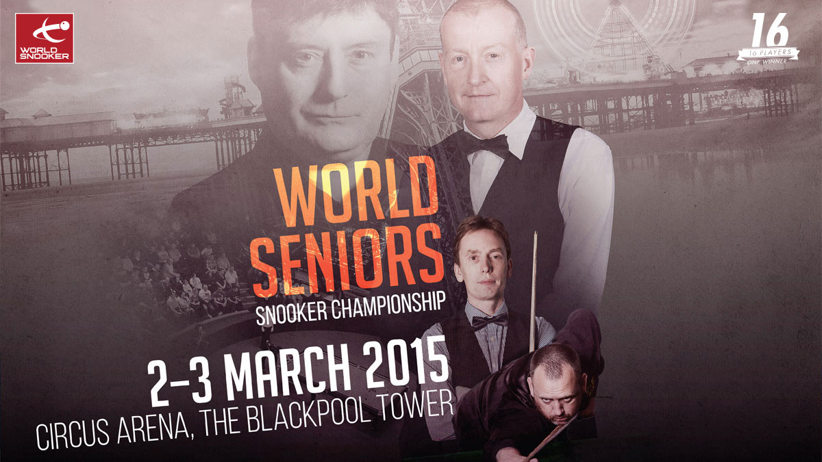 World Seniors 2015 artwork, designed by Alias for World Snooker