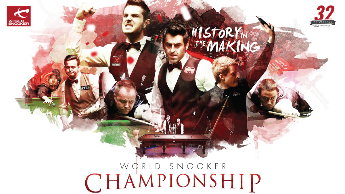 World Championship 2015 artwork, designed by Alias for World Snooker