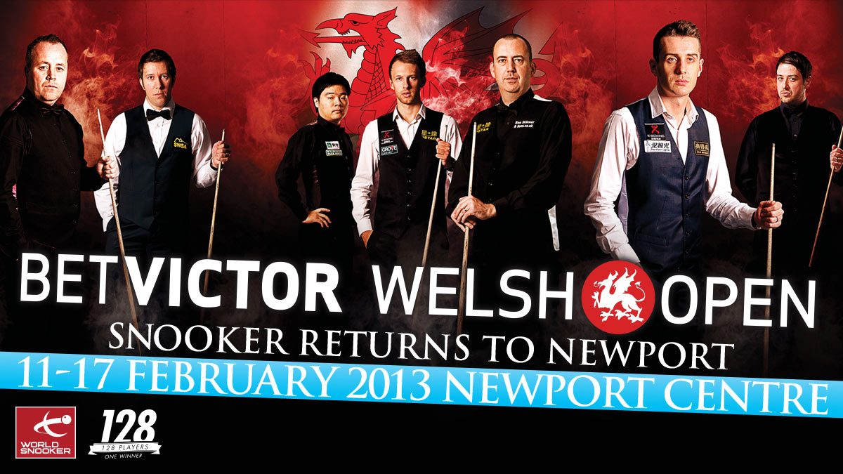 Bet Victor Welsh Open 2013 artwork, designed  by Alias for World Snooker