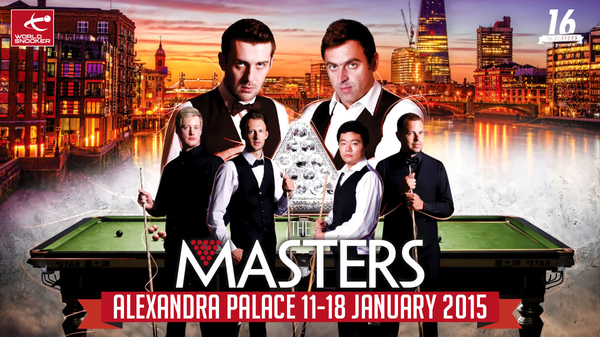 Dafabet Masters 2015 artwork, designed by Alias for World Snooker
