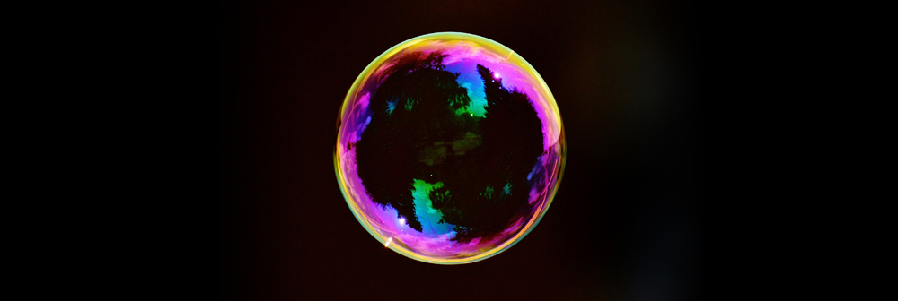 Bubble on a black background