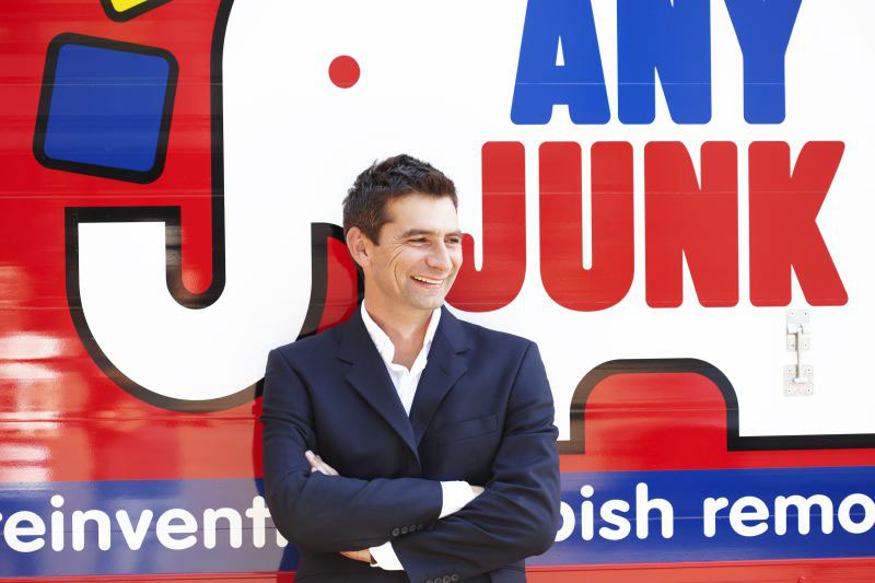 Jason Mohr with AnyJunk truck: Corporate photography by Cheltenham marketing agency Alias