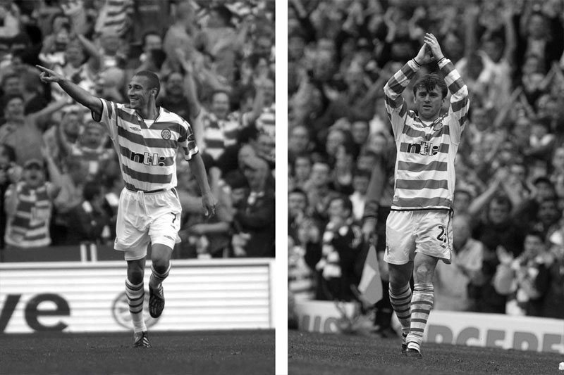 Celtic FC players in tunnel bricks campaign, by Gloucestershire design agency Alias