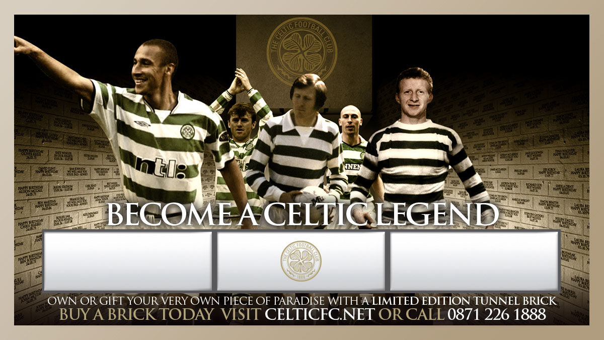 Celtic FC tunnel bricks campaign poster by Gloucestershire design consultancy Alias