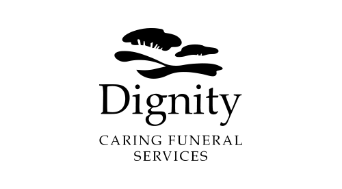 Dignity logo, black and white